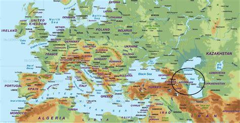 where is azerbaijan on a world map world map azerbaijan baku