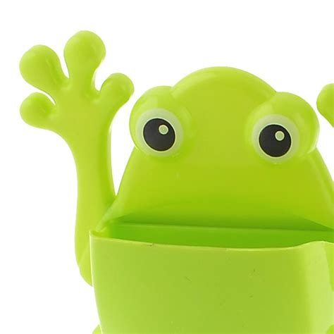 Frog Toothbrush Holder Green Intl plastic frog shaped toothpaste toothbrush holder container