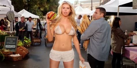 blonde girl from carls jr commercial carl s jr super bowl commercial features an all natural