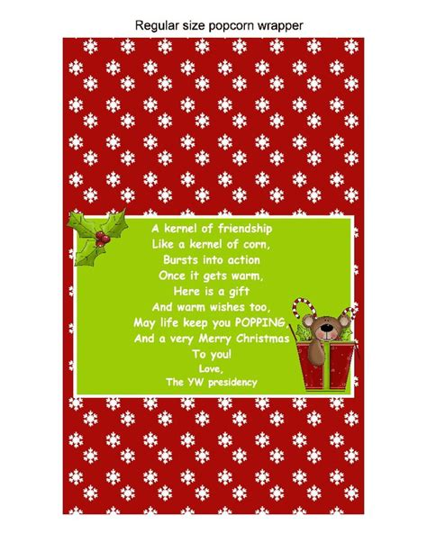 christmas popcorn wrapper gift christmas pinterest