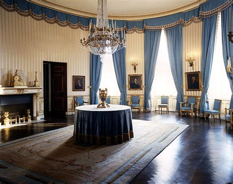 Candice Home Decorator white house blue room 24 january 1963 john f kennedy