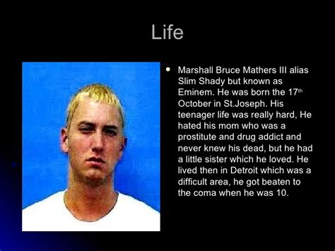 biography eminem english eminem presentation