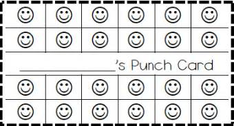 Punch Card Templates Classroom Behavior Ticket Template Also Made Elephant