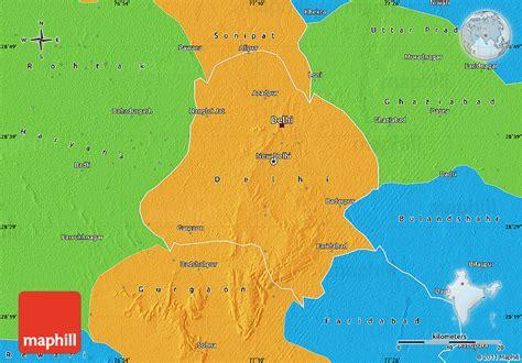 political map of delhi political map of delhi