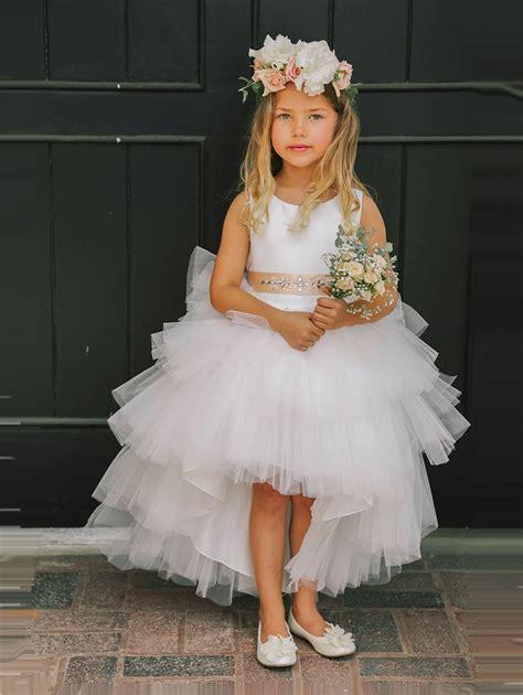 Sk113 Big Tutu Fashion Flower Skirts Black ivory ruffled tulle high low dress