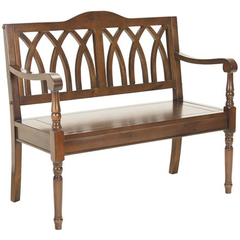 decorative benches indoor shop safavieh american home brown indoor entryway bench at
