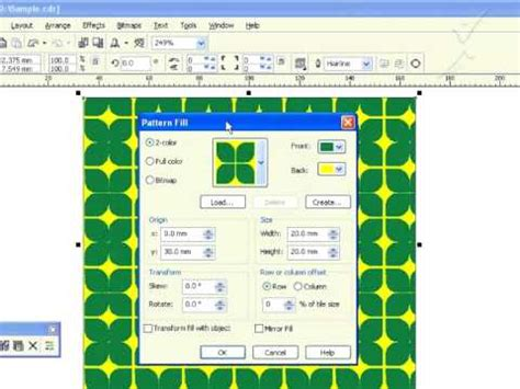 coreldraw pattern fill tutorial coreldraw x3 tamil tutorial quot pattern fill quot part 024 youtube