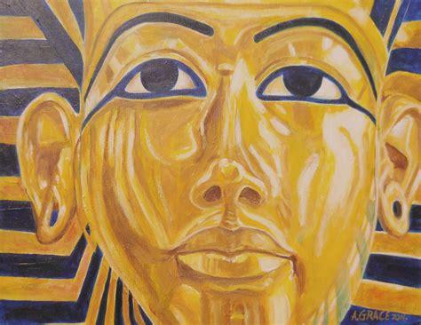acrylic painting king arnold grace jr artwork king tutankhamuns repose
