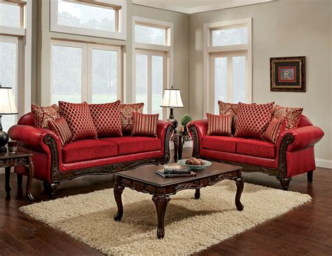 style sofa set traditional style leatherette fabric sofa set