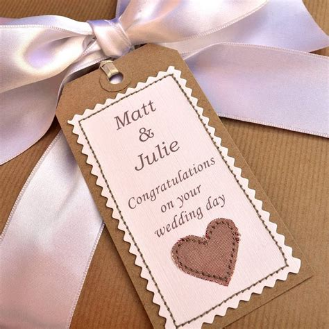 Handcrafted Wedding Gifts - personalised handmade wedding gift tag cards tags