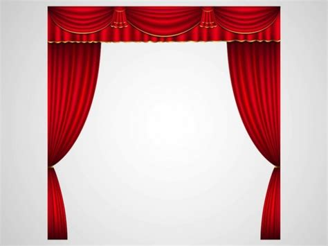 open stage curtains open stage curtains in red download free background vector