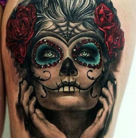 day of the dead face tattoo 166 best day of the dead tattoos