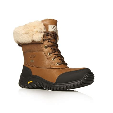 mens uggs boots ugg mens butte sheepskin leather boots in brown for