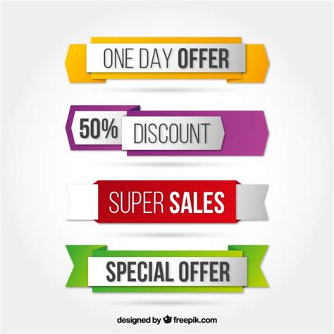 best free offers special offer banners in colored style vector free