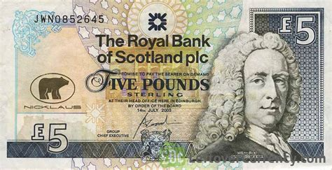 The Royal Bank Of Scotland Plc 5 Pounds Exchange Yours