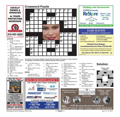 dennis haysbert series crossword what s on tv 06 15 17 by muskogeephoenix issuu