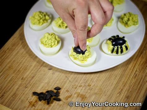 deviled eggs decoration spider decoration for deviled eggs recipe my
