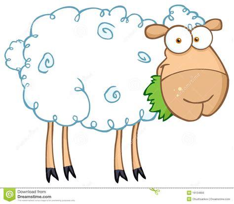 imagenes animadas ovejas ovejas del corral que comen la hierba imagen de archivo
