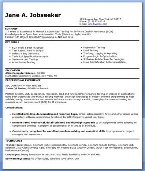 Qa Whitebox Tester Sle Resume by Resume Sle Qa Tester Resume Ixiplay Free Resume Sles