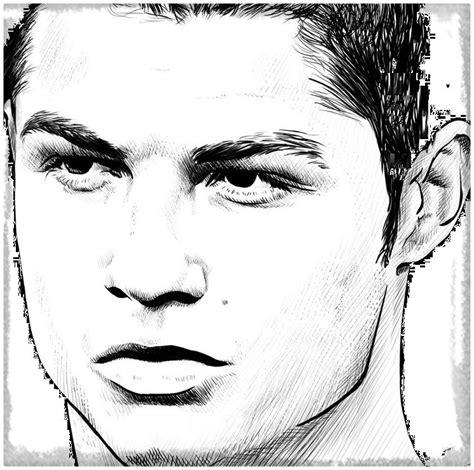 imagenes a lapiz de jugadores divertidos dibujos de cristiano ronaldo para colorear