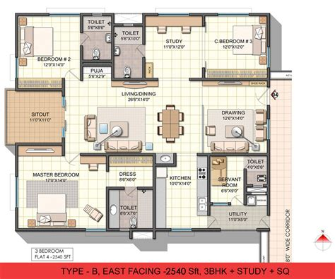 3bhk house plans ncc urban one in gajula ramaram hyderabad by nagarjuna