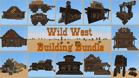 House Schematics wild west building bundle minecraft building inc