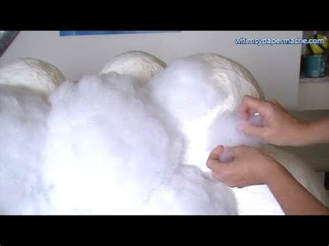 How To Make A Paper Cloud - how to make a fluffy white cloud with paper mache