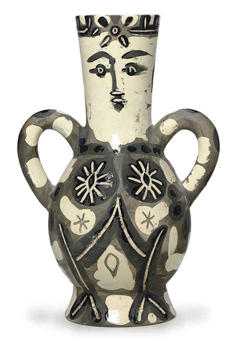 Picasso Vases by Pablo Picasso Vase With Two High Handles A R 141