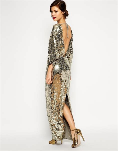 Asos Bring Us Another Style Gold Sequin Dress by Bahrain101