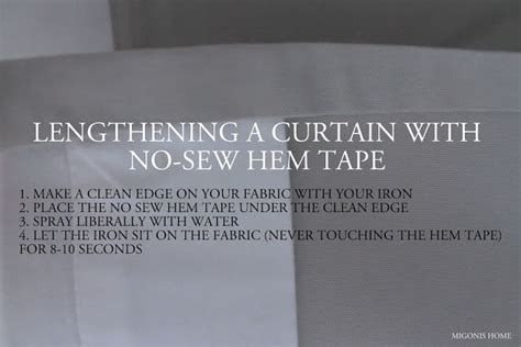 no sew hem tape curtains 1000 ideas about lengthen curtains on pinterest