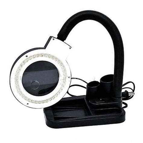 10x magnifying glass with led light 40 led lighting magnifying glass desk l with 5x 10x