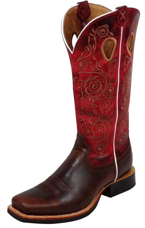 pungo ridge twisted x s ruff stock boots saddle