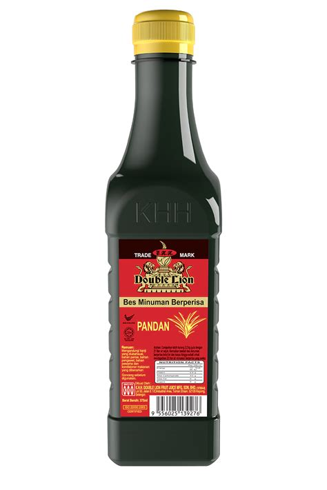 flavoured concentrate pandan 375ml khh