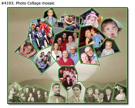 Family Tree Photo Collage Tree Photo Collage Template