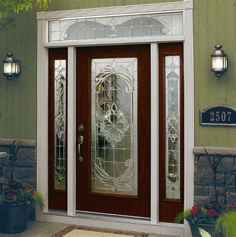 decorative glass door sidelights decorative glass door inserts for single door with