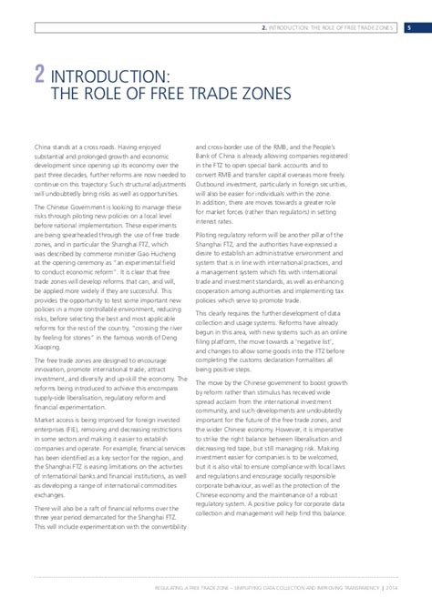 Free Trade Debate Essay by China Free Trade Zones Discussion Paper Regulating A Free Trade Zone
