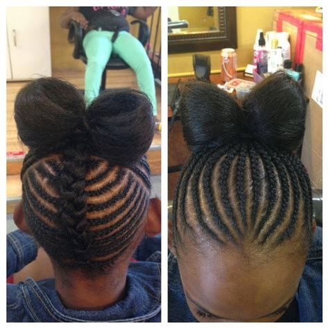 braided hairstyles bow 10 images about natural kids hair bow styles on