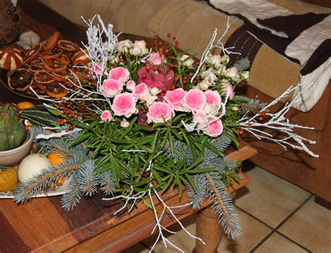 deco fleurs table deco centre de table noel obasinc