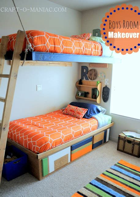 Bedroom Makeover Crafts Boys Bedroom Makeover Reveal Craft O Maniac