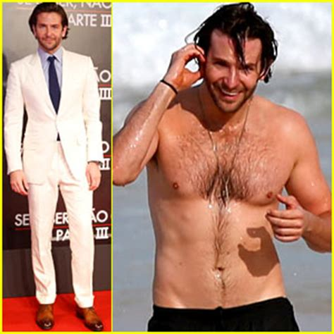 bradley cooper premieres 'hangover iii', swims shirtless