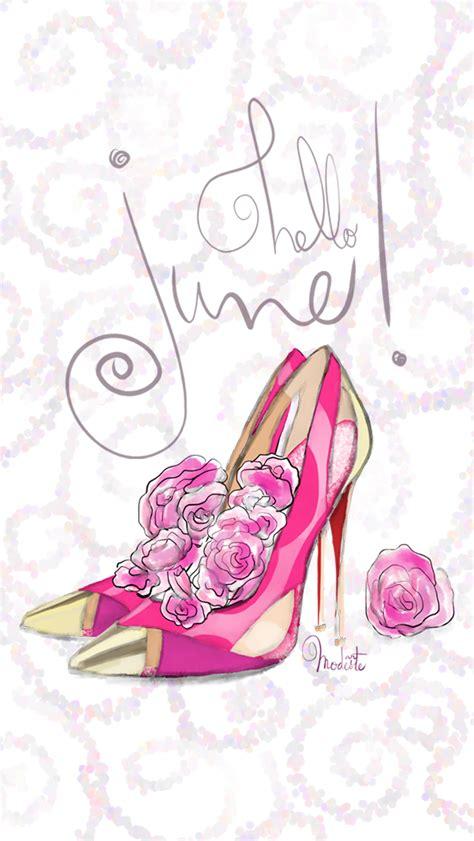 Girly Chic Wallpaper | chic feminine hello june iphone wallpaper panpins