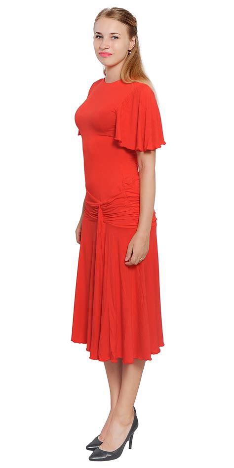 Dress Rumbai Retro 96 womens drop waist midi dress vintage retro