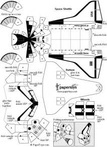 How To Make A Spaceship Out Of Paper - space shuttle paper model quotes
