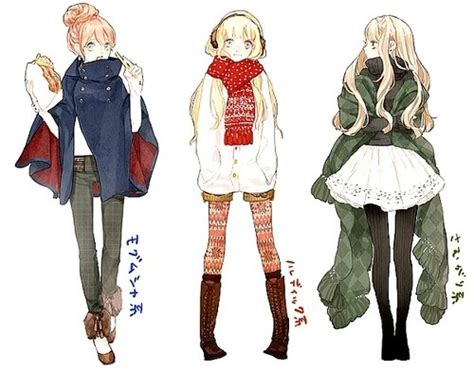 O Anime Clothing by Fashion Sketches Anime Inspired