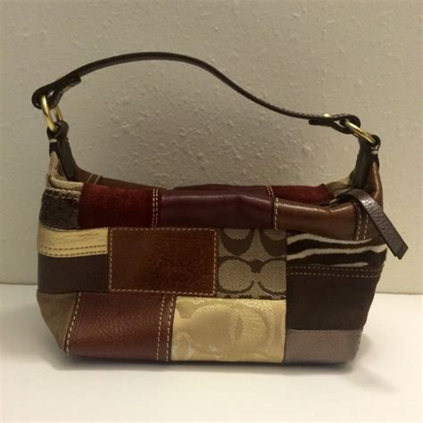 Coach Htons Weekend Patchwork Tote by 80 Coach Handbags Coach Patchwork Small Purse