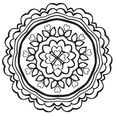 Heart Mandala Coloring Page