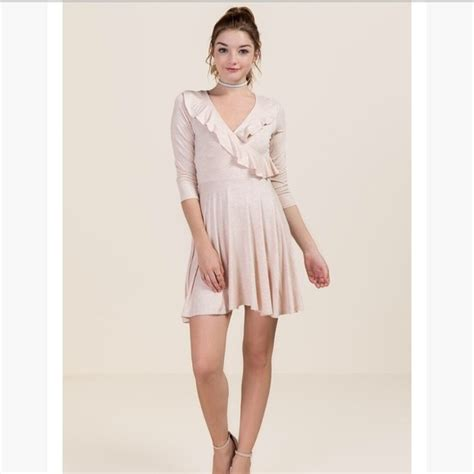 light pink wrap dress 48 dresses skirts light pink ruffle wrap midi