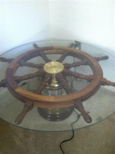 Ship Wheel Light Coffee Table Ship Wheel Pinterest Coffee Table With Wheel