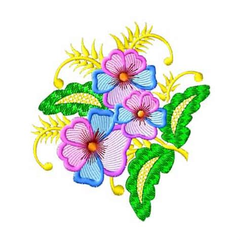 embroidery design in flower fantasy flowers 05 embroidery designs machine embroidery