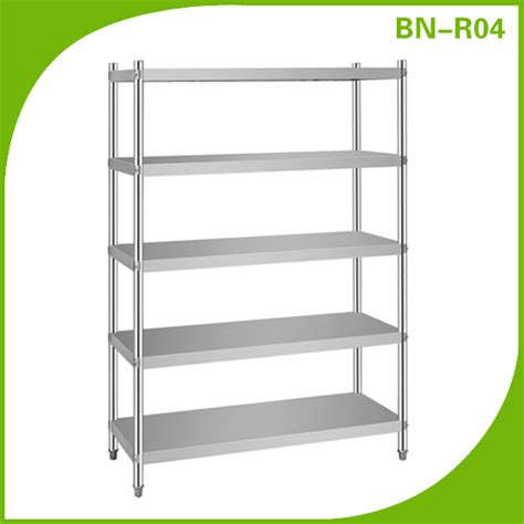 Stainless Steel Kitchen Shelf Unit by Hospitality Equipment 5 Tiers Stainless Steel Shelving